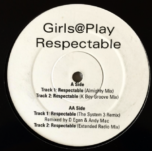 "Girls@Play ‎- Respectable (12"") (Promo) (VG-EX/NM)"